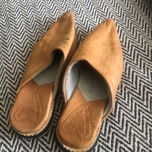 Leather Moroccan shoes - from Marrakech! size 6